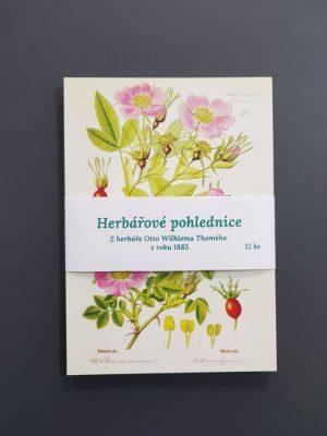 herbářová pohlednice