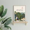 Plakát z kolekce Plants quotes. Pro Zahradu na niti ilustrovala Anna Vančurová.